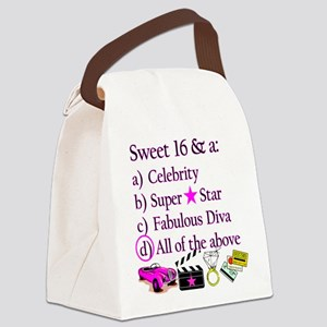 SWEET 16 DIVA Canvas Lunch Bag