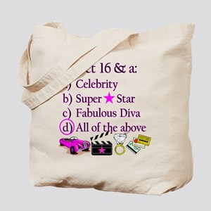 SWEET 16 DIVA Tote Bag
