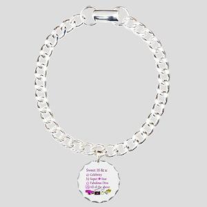 SWEET 16 DIVA Charm Bracelet, One Charm