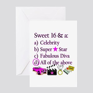 SWEET 16 DIVA Greeting Card