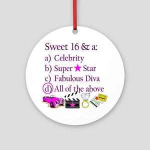 SWEET 16 DIVA Ornament (Round)