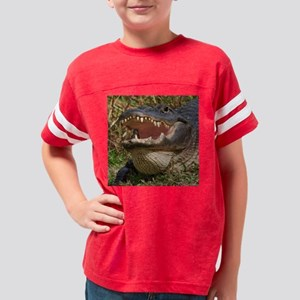 alligator with teeth showing Youth Football Shirt