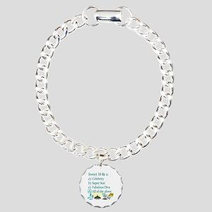 16TH SUPER STAR Charm Bracelet, One Charm