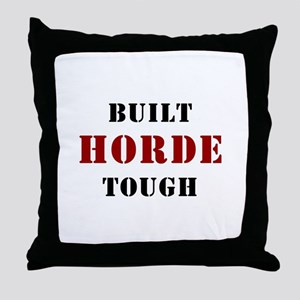 Built HORDE Tough Throw Pillow