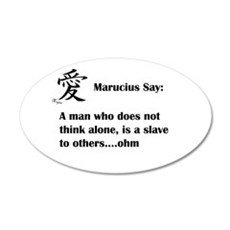 A man must think alone Wall Decal
