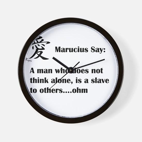 A man must think alone Wall Clock