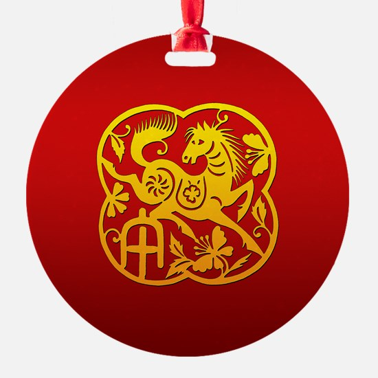 Chinese Papercut Year of The Horse Ornament