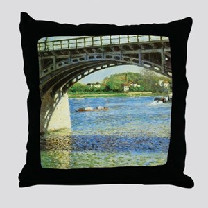 Caillebotte Bridge at Argenteuil and  Throw Pillow