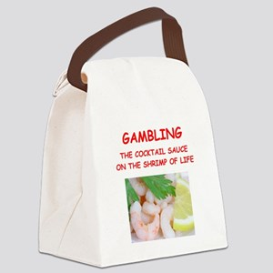 gambling Canvas Lunch Bag
