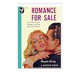 Postcards (pkg. 8) - 'Romance For Sale'