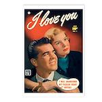 Postcards (pkg. 8) - 'I Love You-No. 1'