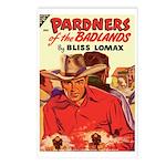 Postcards (pkg. 8)-'Pardners of Badlands