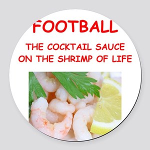 football Round Car Magnet