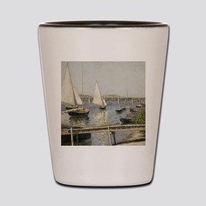 Caillebotte Sailing Boats at Argenteuil Shot Glass