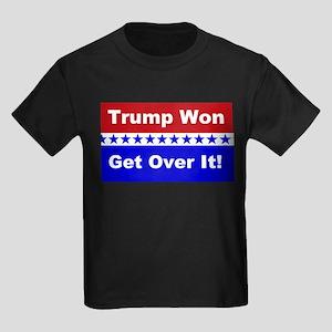 Trump Won Get Over It! Kids Dark T-Shirt