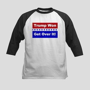 Trump Won Get Over It! Kids Baseball Tee