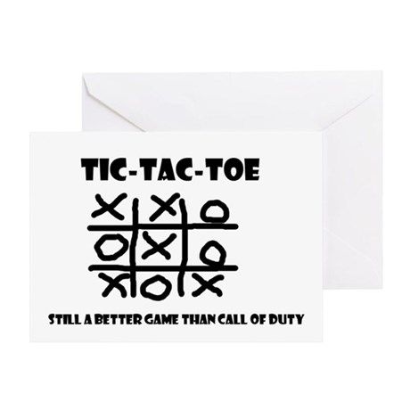 TIC-TAC-TOE Greeting Card