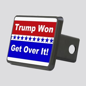 Trump Won Get Over It! Rectangular Hitch Cover