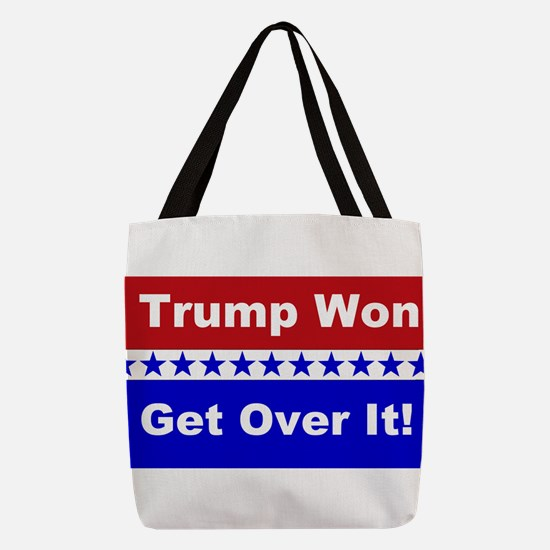 Trump Won Get Over It! Polyester Tote Bag