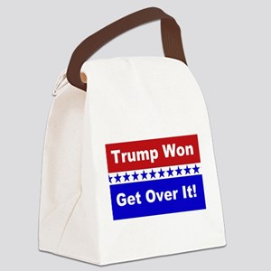 Trump Won Get Over It! Canvas Lunch Bag