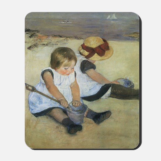Mary Cassatt Children Playing on the Bea Mousepad