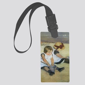 Mary Cassatt Children Playing on Large Luggage Tag