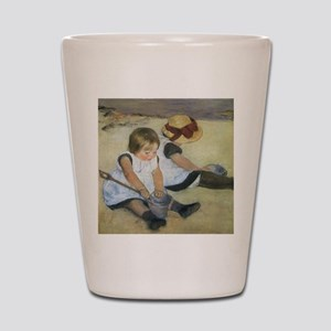 Mary Cassatt Children Playing on the Be Shot Glass