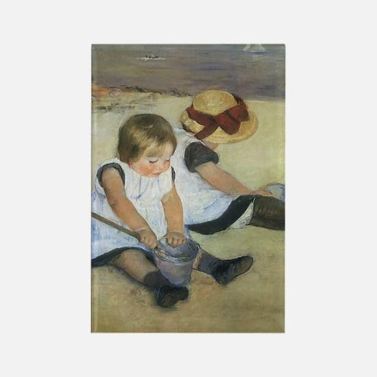 Mary Cassatt Children Playing on  Rectangle Magnet