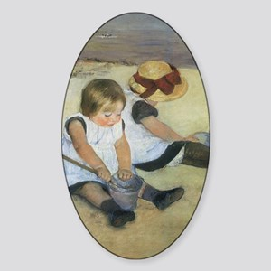 Mary Cassatt Children Playing on th Sticker (Oval)