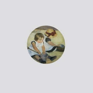 Mary Cassatt Children Playing on the B Mini Button