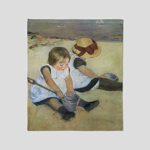 Mary Cassatt Children Playing on the Throw Blanket