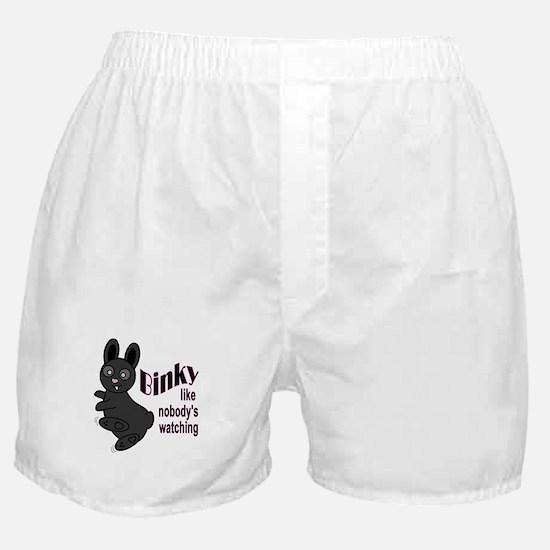 Binky Like Nobodys Watching Boxer Shorts