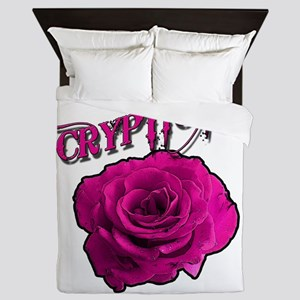 Cryptic Ink Pink Rose Queen Duvet