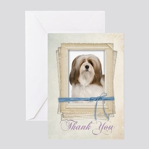 Lhasa Apso Thank You Card