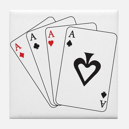 Four Aces Tile Coaster