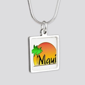 Maui Silver Square Necklace