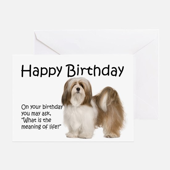 Funny Lhasa Apso Birthday Card