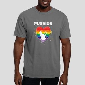 Gay Pride - LGBT Cat Pur Mens Comfort Colors Shirt