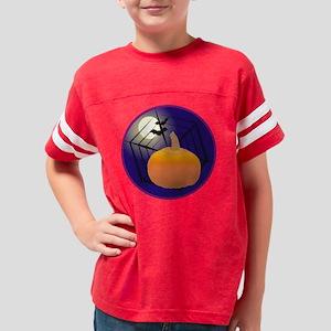 Halloween Pumpkin Youth Football Shirt