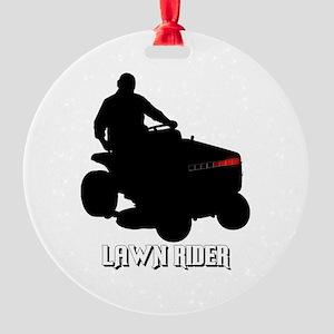 Lawn Rider Round Ornament