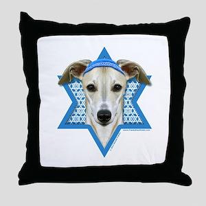 Hanukkah Star of David - Whippet Throw Pillow