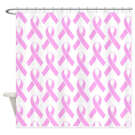 Pink Ribbons Shower Curtain By AwarenessX