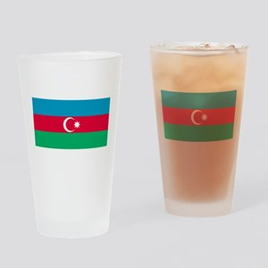 Azerbaijan Flag Drinking Glass