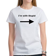 I'm with stupid (Women's T-Shirt)