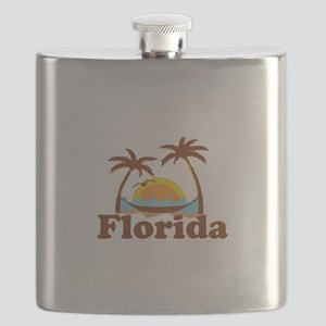 Florida - Palm Trees Design. Flask