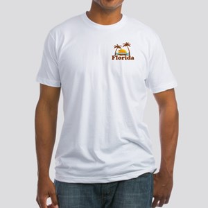 Florida - Palm Trees Design. Fitted T-Shirt