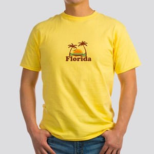 Florida - Palm Trees Design. Yellow T-Shirt
