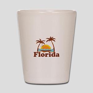 Florida - Palm Trees Design. Shot Glass