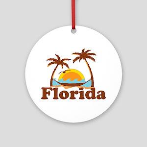 Florida - Palm Trees Design. Ornament (Round)