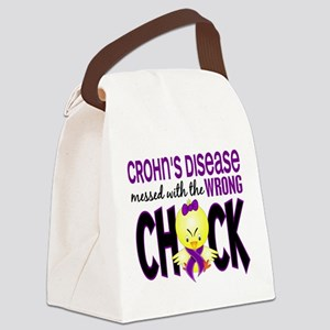 Crohn's Messed With Wrong Chick Canvas Lunch Bag